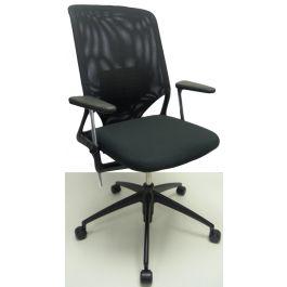 Vitra Meda Bureaustoel.Bureaustoel Vitra Meda 2 Zwart Nieuwe Stof