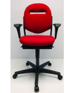 Bureaustoel Ahrend 220 nieuwe stof rood