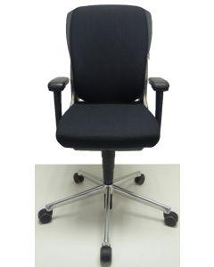 Bureaustoel Ahrend 230 extra hoog zwart nieuwe stof