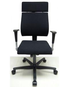 Bureaustoel Ahrend 240 hoofdsteun zwart nieuwe stof