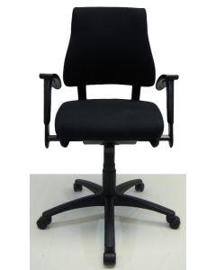 Bureaustoel BMA Axia office middelhoog nieuwe stof zwart