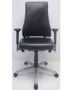 Bureaustoel BMA Axia Pro Max zwart leder