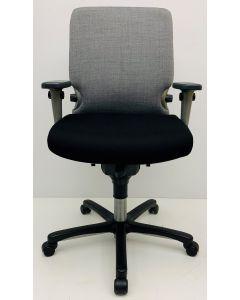 Bureaustoel Comforto 77 grijs zwart nieuwe stof