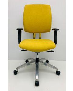 Bureaustoel Drabert Entrada Alcantara stof geel