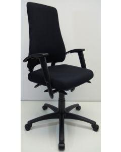 Bureaustoel BMA Axia Office extra hoog nieuwe stof zwart