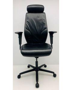 Bureaustoel Giroflex 64 leder met hoofdsteun