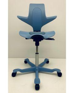 Bureaustoel HAG Capisco blauw kunststof