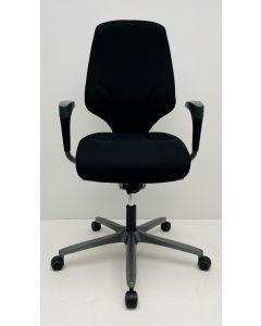 Bureaustoel Giroflex 64 nieuwe stof zwart (rug grijs)