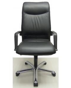 Nieuwe Bureaustoel Jetchair 01 zwart leer directie