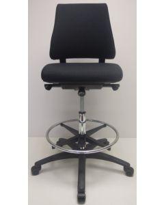 Kassastoel, loketstoel, bootstoel BMA Axia Pro middelhoog zwart nieuw stof