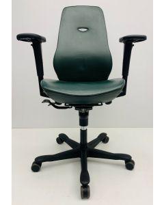 Bureaustoel Kinnarps 6000 Freefloat groen Leder