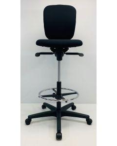 Kassastoel, loketstoel, bootstoel Ahrend 262 zwart nieuwe stof