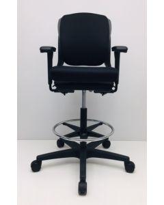 Kassastoel, loketstoel Ahrend 230 zwart nieuwe stof