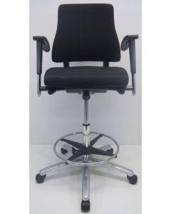 Kassastoel, loketstoel, bootstoel BMA Axia Office middelhoog zwart