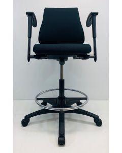 Kassastoel, loketstoel, bootstoel BMA Axia Office middelhoog zwart nieuwe stof