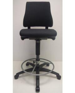 Kassastoel, loketstoel, bootstoel BMA Axia Office middelhoog zwart nieuw stof