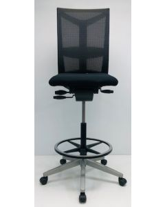 Kassastoel, Loketstoel Bureaustoel Comforto DX88 zwart nieuwe stof