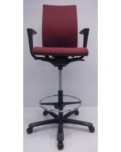kassastoel, loketstoel, bootstoel HAG H04 Credo donker rood