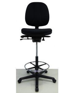Kassastoel, loketstoel, bootstoel RH Logic 3 zwart nieuwe stof
