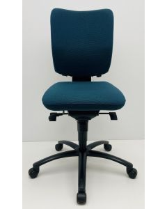 Bureaustoel Viasit Innova blauw zonder armleggers