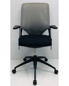 Bureaustoel Vitra Meda 2 zwart - grijs